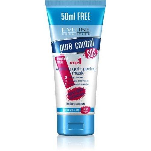 Eveline Cosmetics PURE CONTROL WASHING GEL + PEELING + MASK 3in1