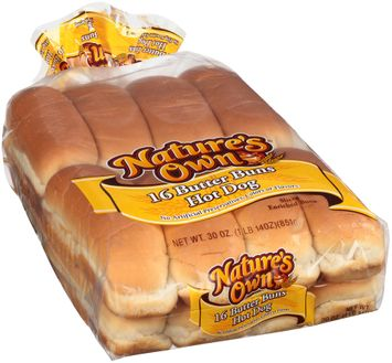 nature's own® butter hot dog buns