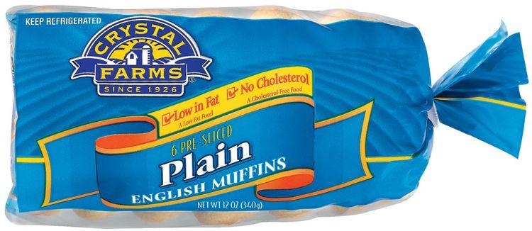 Crystal Farms Plain Pre-Sliced 6 Ct English Muffins