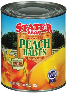 Stater bros In Heavy Syrup Yellow Cling Peach Halves