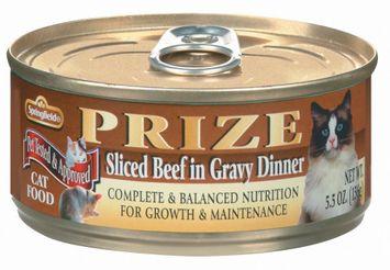 Springfield Prize Sliced Beef in Gravy Dinner Cat Food