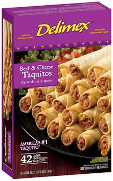 Delimex Beef & Cheese Large 42 Ct Taquitos Flour