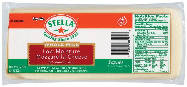 Stella® Mozzarella Low Moisture Whole Milk Cheese