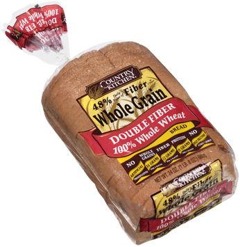 country kitchen® whole grain double fiber 100% whole wheat