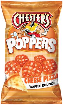 chester's® poppers cheese pizza waffle rounds