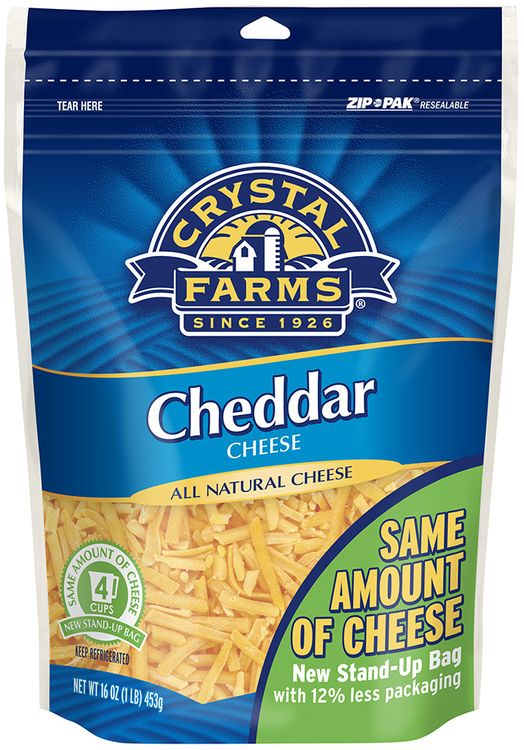 Crystal Farms® Shredded Cheddar Cheese
