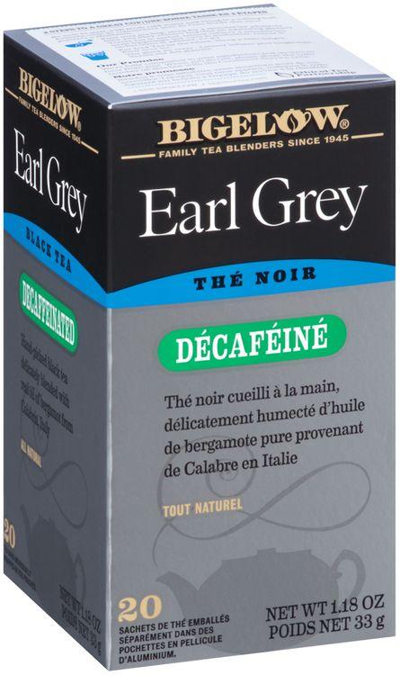 Bigelow® Earl Grey Decaffeinated Black Tea Bags 20 ct Box