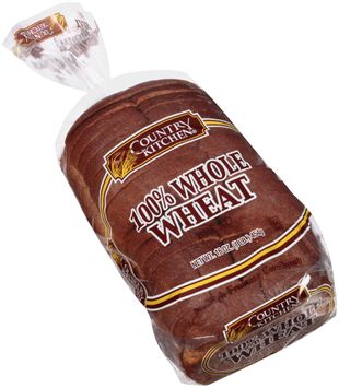 country kitchen® 100% whole wheat bread