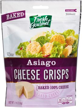 fresh gourmet® baked asiago cheese crisps