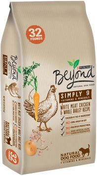 purina beyond simply 9 white meat chicken & whole barley recipe dog food