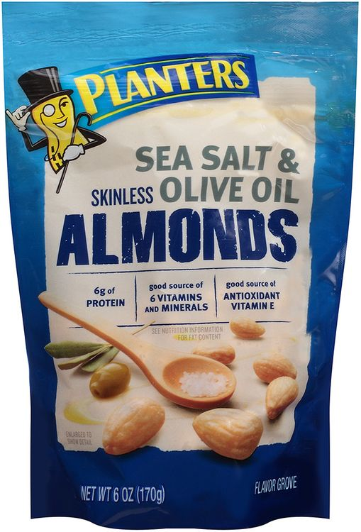 Planters Skinless Sea Salt & Olive Oil Almonds Bag