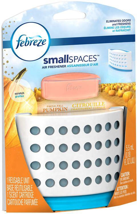 Small Spaces Febreze SmallSpaces Fresh Fall Pumpkin Starter Kit Air Freshener (1 Count, 5.5 mL)