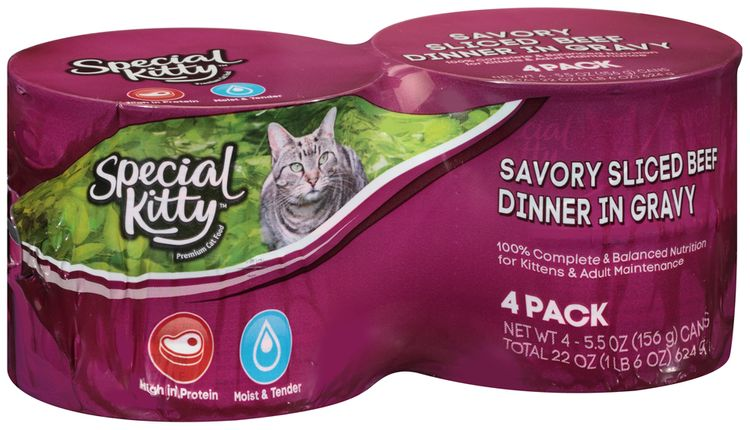 Special Kitty™ Savory Sliced Beef Dinner in Gravy Wet Cat Food