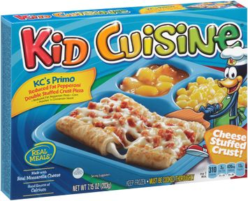 Kid Cuisine® KC's Primo Reduced Fat Pepperoni Double Stuffed Crust Pizza Frozen Dinner