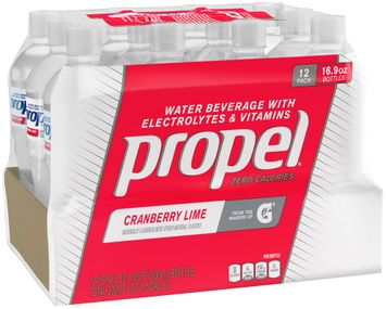 Propel® Cranberry Lime Water Beverage with Electrolytes & Vitamins 1