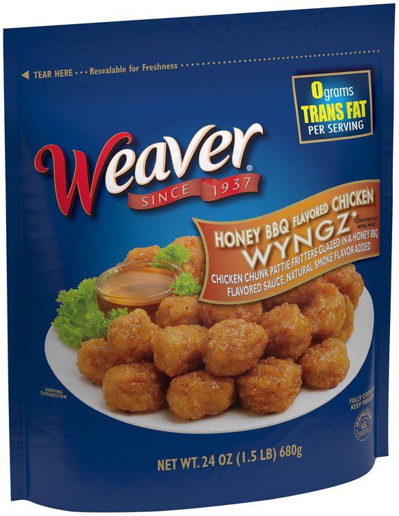 weaver® honey bbq flavored chicken wyngz