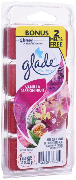 Glade® Vanilla Passion Fruit Wax Melts Air Freshener 8 ct Pack