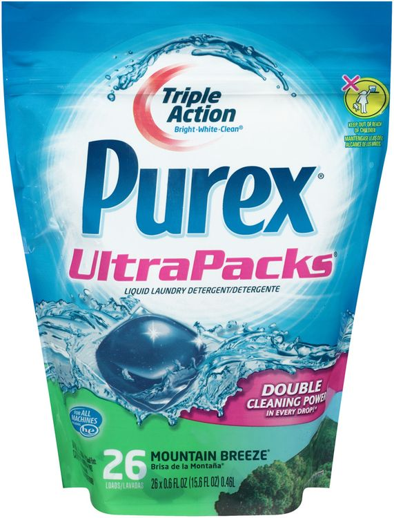 purex® ultra® mountain breeze® liquid laundry detergent stand up bag