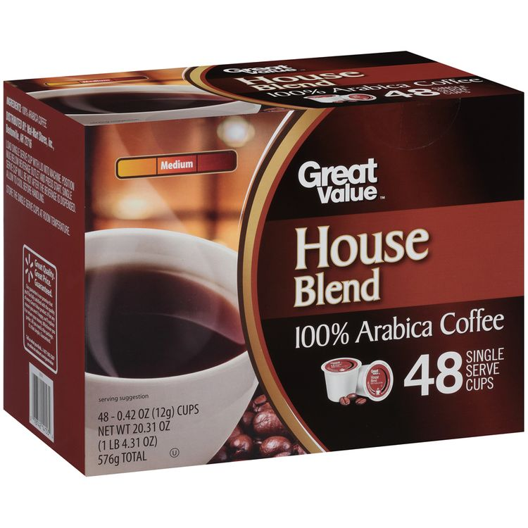 Great Value™ House Blend Medium 100% Arabica Coffee 4 Cups