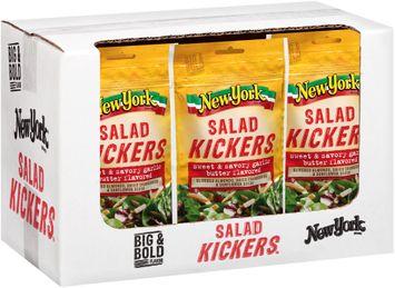 new york® sweet & savory garlic butter flavored salad kickers™