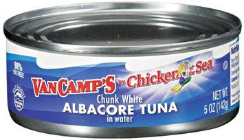 VAN CAMP'S Chicken of The Sea Albacore Chunk White In Water Tuna