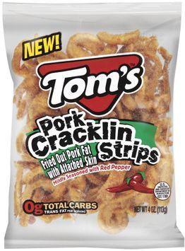 TOM'S Pork Mildly Seasoned With Red Pepper Cracklin Strips