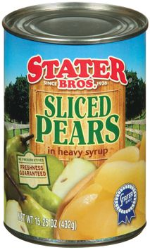 Stater bros In Heavy Syrup Sliced Pears