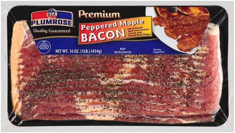 Plumrose® Premium Hardwood Smoked Peppered Maple Bacon