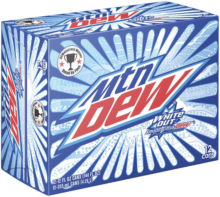 Mountain Dew® White Out® 12 Pack