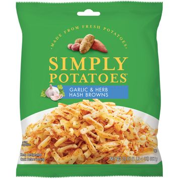 simply potatoes® garlic and herb hash browns