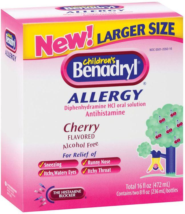 Benadryl® Cherry Flavored Liquid Club 2 Ct Allergy