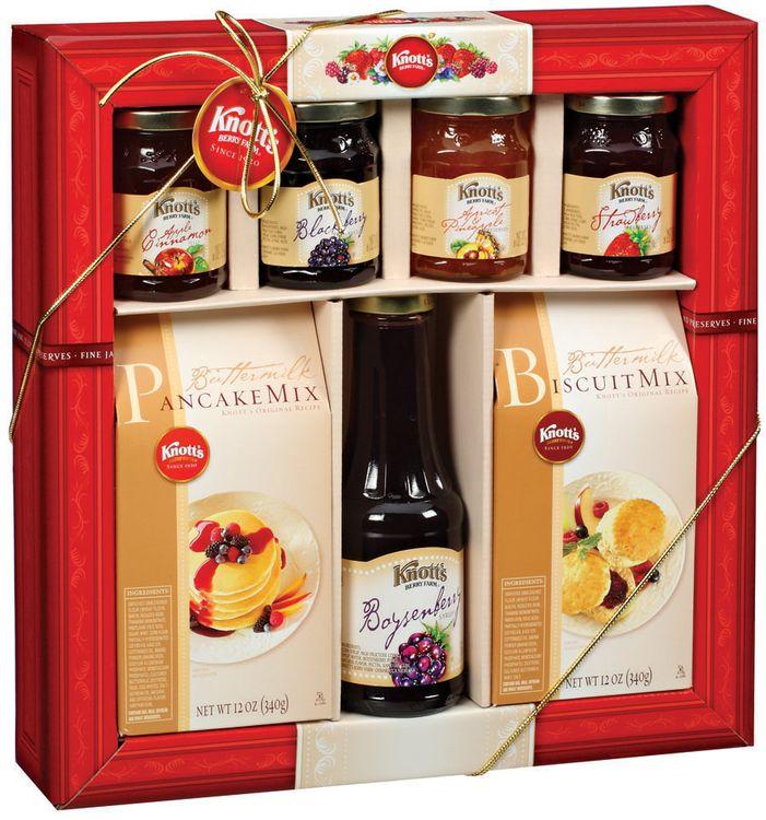 Knott's Berry Farm Gift Set W/Pancake & Biscuit Mixes Fine Jams Jellies & Preserves 7 Ct Box