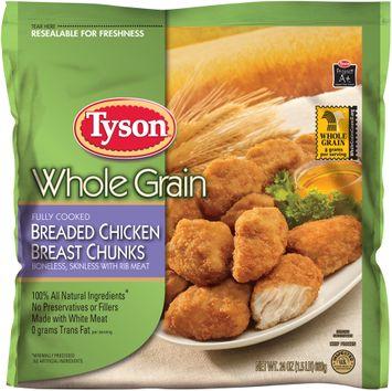 tyson® whole grain breaded chicken breast chunks