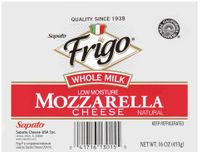 frigo® whole milk mozzarella cheese