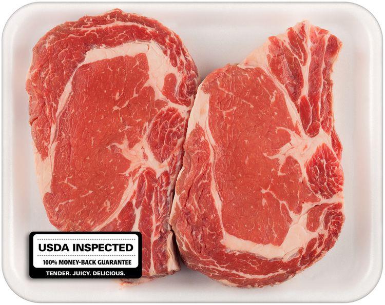Beef Bone-In Ribeye Steak Tray