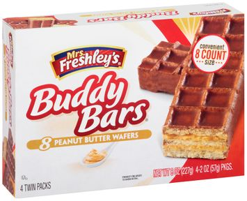 mrs Freshley's® Peanut Butter Wafers Buddy Bars®