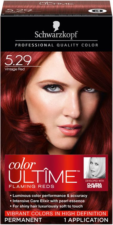 Schwarzkopf® Color Ultime® Flaming Reds Vintage Red Hair Color Box