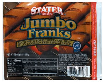 Stater bros Jumbo Franks