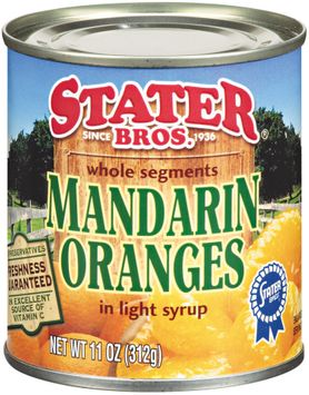 Stater bros® Whole Segments Mandarin Oranges in Light Syrup