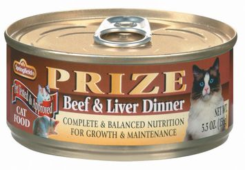 Springfield Prize Beef & Liver Dinner Cat Food