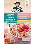 Quaker Instant Oatmeal Fruit and Cream Variety Pack