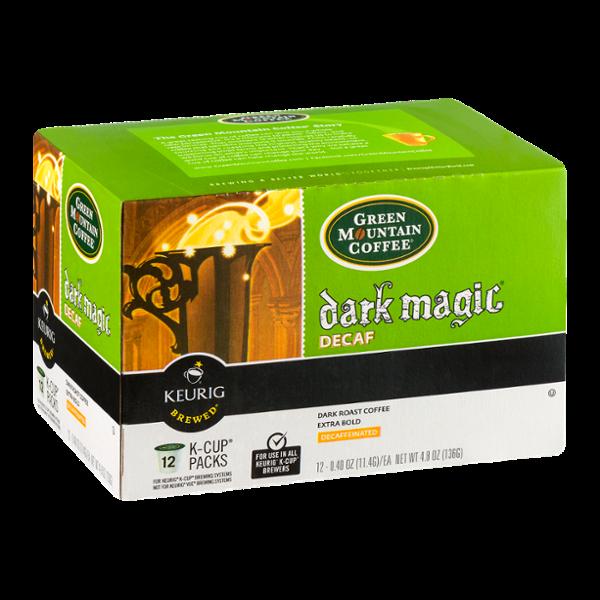 Green Mountain Coffee Dark Magic Decaf Dark Roast Extra Bold K-Cup Packs - 12 CT