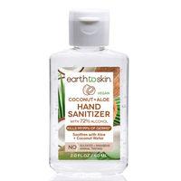 Earth to Skin Hand Sanitizer Gel, 2 oz Coconut + Aloe