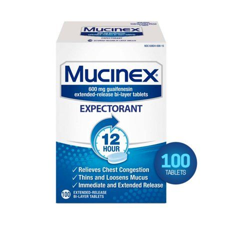 Mucinex 12 Hr Chest Congestion Expectorant, Tablets