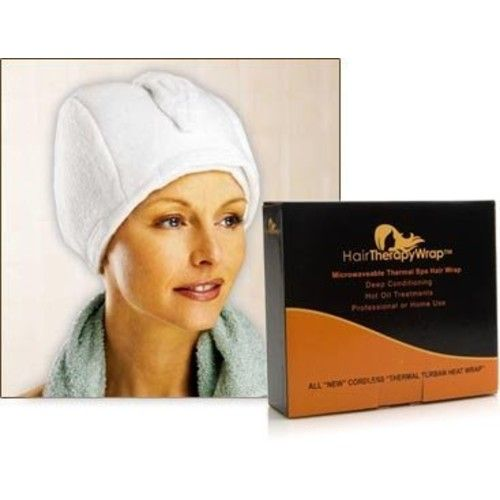 Hair Therapy Wrap Thermal Spa Hair Wrap - White