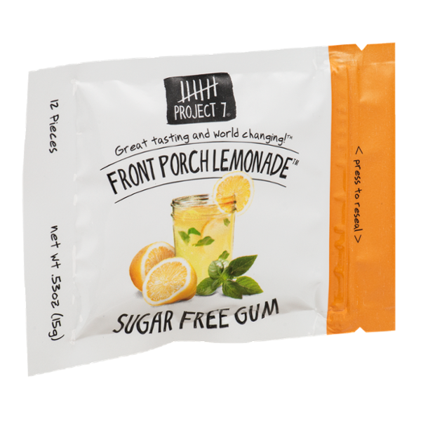 Project 7 Sugar Free Gum Front Porch Lemonade - 12 CT