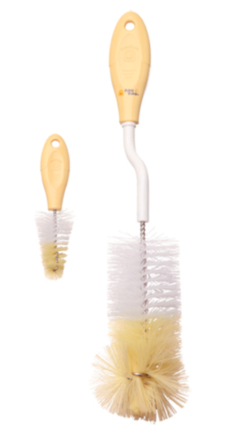Cam Consumer Products, Inc. Piyo Piyo 830473 360 Degree Bottle Scrubble with Nipple Brush - Pack of 6