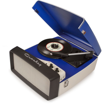 Crosley Radio Collegiate Portable USB Turntable in Blue