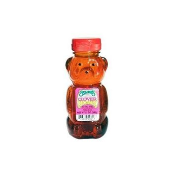 Mclrne Mclures Clover Bear Honey, 12 Ounce -- 12 per case.