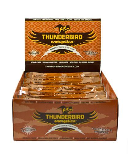 Thunderbird Energetica Bars Almond Cookie Pow-Wow, 15 Pack - Men's